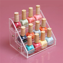 Fashion Popular 3 Tiers Nail Polish Rack Cosmetics Display Shelf Makeup Organizer Lipstick