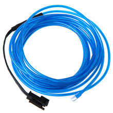 3M Water Resistant Flexible Neon Light EL Wire Rope Tube with Controller for Indoor and Outdoor Lighting(China)