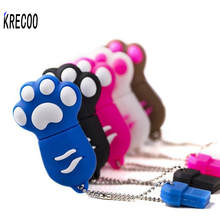 KRECOO 2017 New Gifts Cartoon Cute Cat Paw Usb Memory Stick Storage Colorful Pen Drive 4GB/64GB USB 2.0 USB Flash Drives