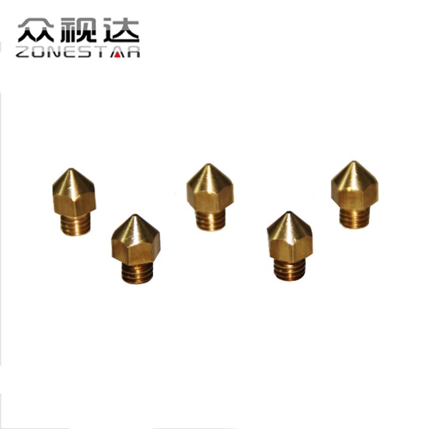 5PCS/lot 3D printer Extruder Nozzle For 1.75mm Filament Mix Sizes 0.2mm 0.3mm 0.4mm Reprap DIY Ki<br><br>Aliexpress