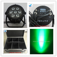 12pcs + road case led par par64 light 7x10w color mixing stage lighting effect ip65 led par light rgbw,4in1 led flat par cans