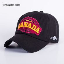 brand canada letter Cotton embroidery Baseball Caps Snapback hat for Men women Leisure Hat cap wholesale