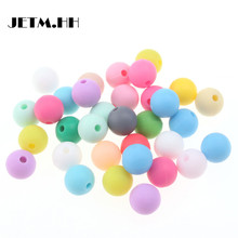 100pc 12mm Silicone Baby Teether Round Beads Bpa Free Chewable Silicone Beads For Jewelry Making Diy Teething Toys Gift JETM.HH(China)