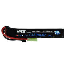 HRB 7.4V 1350mah 20C Max 40C RC 2s LiPo Battery For Mini Tamiya AEG Airsoft BB Gun RC Model Helicopter(China)