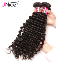 "UNice Hair Company Peruvian Deep Wave 1 Bundle 100% Natural Human Hair Weave Non Remy Hair Weft 100g/piece Free Shipping 12""-26"""