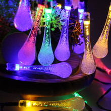 Icicle Snow Fall 4.5M 30 LED String lights Meteor Falling Star Rain Drop Xmas String Fairy Light Bulb Garden Holiday Derocation(China)