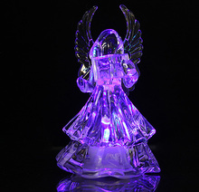 12pcs/lot Angel LED Seven Color Changing Design Glow EVA Lamp Christmas Party Night Pub Ornament Child Gifts Toys L042(China)