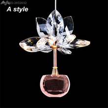 Nordic Modern Lustre Crystal Apple Led Pendant Lamp,Creative Art single Head Restaurant bar Pendant lamp Haing Lamp for Home(China)