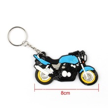 Sale Motorcycle Model Cool Keyring Keychain Key Chain Pendant Rubber For Honda Blue