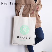 2017 new arrivals fresh printing thickening cotton cloth tote shopping bags light big handbags(China)