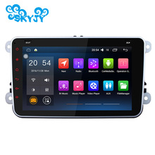 2 Din Android 5.1 Quad Core 1024*600 Car Stereo GPS Navigation For VW Skoda POLO GOLF PASSAT CC B6 B7 JETTA TIGUAN CADDY TIGUAN