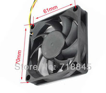 Free shipping Wholesale 100pcs Ball Bearing Style 12V 7CM 70MM 7015 3Pin Cooling Cooler Fan