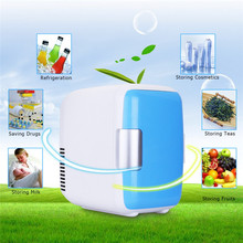 4L 12V Mini Car Fridge Refrigerator Heating Food Electric Cooler Warmer Travel Portable Icebox Freezer Box ABS No Compressor