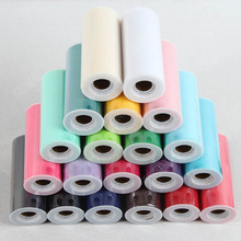 The United States manufacturers net 25 6 inch wedding party code table skirt decorate gauze roll wholesale wedding wedding car(China)