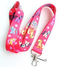 Wholesale Free shipping 100pcs hot pink my little pony cell phone/ keychains /Neck Strap Lanyard M-03