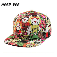 [HEAD BEE] 2017 Cap Fashion Character Brand Baseball Cap Kid Cartoon Hip Hop Hat Gorras for Boy and Girl