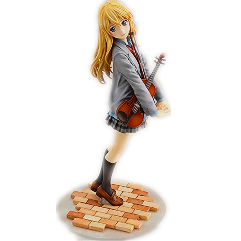 Anime figure Your Lie in April PVC Action Figure Toys Miyazono Kaori baby toys Model Dolls 20 cm in box JK-L0053<br><br>Aliexpress