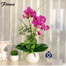 Floace High simulation butterfly orchid flowers floral suit Sitting room furniture decoration Flowers silk flowers(China)