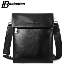 BOSTANTEN Cow Real Genuine Leather Fashion Men Bags Men Messenger bags Small Business Men Travel Crossbody Shoulder Bag Handbags
