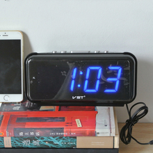 Digital LED Alarm clock Large Number desk clocks AC Power EU Plug/US Plug Table clock with Green Blue Red White Color display(China)