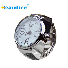 Hcandice Relogio Feminino Dial Analog Creative Steel Cool Elastic Quartz Finger Ring Fashion Horloge Women Watch May5