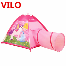 Portable Kids Play Tent Outdoor Garden Pipeline Crawling Huge Game Play House Baby Yard Playing Tunnel Toy Tent Chrismas gift
