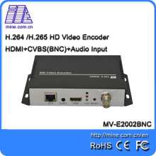 E2002BNC Factory Price Full HD H.264 HDMI+BNC (CVBS) dual interface input video encoder Support ONVIF protocol and NVR recording(China)