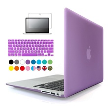3 in1 Matte Case For Apple macbook Air Pro Retina 11 12 13 15 inch Protector For Mac book 11.6 13.3 15.4 hard laptop bag(China)