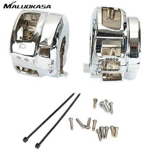 MALUOKASA Motorcycle Chrome Switch Housings Cover Cap Motor Case Kit For Suzuki GSX-1300R For Hayabusa 2008 2009 2010 2011 2012