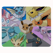 Funny Cute Cartoon Pokemon Eeveelution Personalized Mouse Pad Laptop PC Computer Rectangle Rubber Durable Gaming Mouse Pad