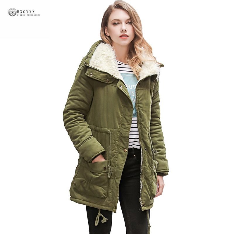 2017 New Hot Winter Jackets Women Big Size Padded Warm Parkas Coat Solid Color Turn-down Collar Casual Female Outerwear OK853Îäåæäà è àêñåññóàðû<br><br>