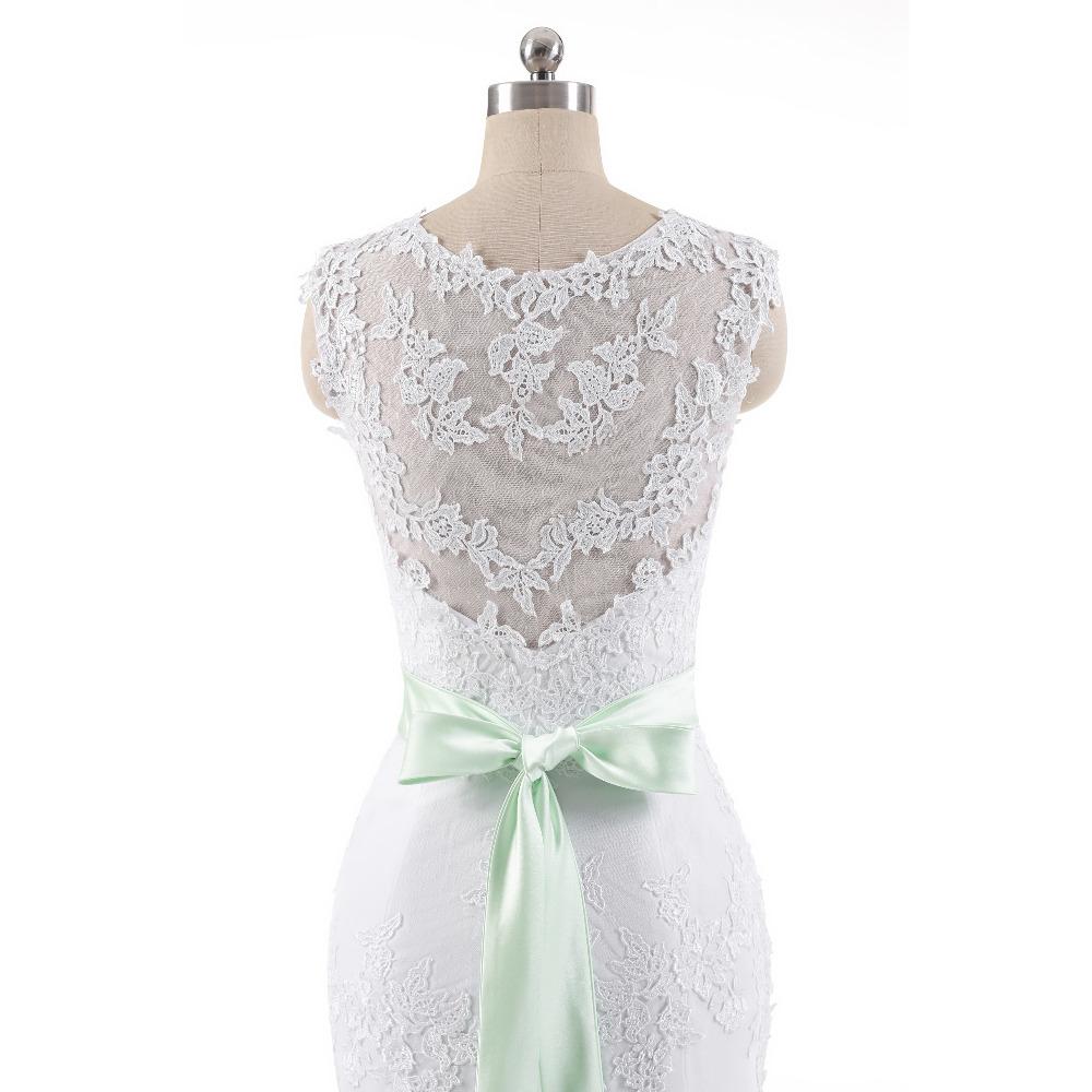 Lover Kiss Vestido De Noiva 2017 Robe De Mariee Elegant Lace Body Sleeveless Wedding Dress Sexy Mermaid Wedding Dress 7