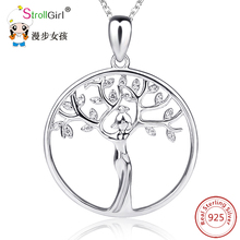 925 Sterling Silver Tree Of Life Jewelry Accessories Chain Necklace Women 2017 Silver Tree Of Life Pendant Chain Collares Gift
