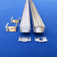 10pc(10m)/pack;1m per piece Led Channel Profile ;Led alu profile with led strip profile cover for led strip QC-026-1M