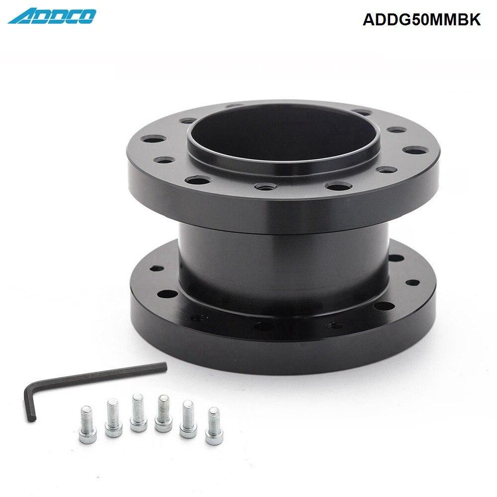 ADDCO 50mm Billett Aluminium Steering Wheel Spacer Adapter Boss Kit Suits All Wheels ADDG50MMBK