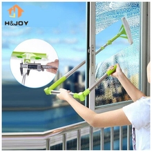 New Telescopic High-rise Cleaning Glass Sponge Mop Multi Cleaner Brush Washing Windows Dust Brush Easy Clean the Windows Hobot(China)