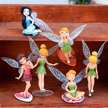 6pcs/Set Adorable Mini Dollhouse DIY Fairy Pixie Small Garden Landscaping Ornaments Succulent Decoration Birthday Gift 9cm