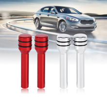 2Pcs Universal Car Truck Aluminum Interior Door Decoration Lock Knob Pins Cover Car Styling Red/Silver