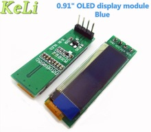"1pcs 0.91 inch OLED module 0.91"" Blue OLED 128X32 OLED LCD LED Display Module 0.91"" IIC Communicate  new original"