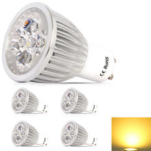 4x High power GU10 Dimmable LED lamp 220V 10W LED Spotlight Bulb Lamp warm cool white ceiling spot light free shipping(China)
