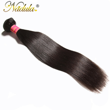 Nadula Hair Products 1Bundle Indian Straight Hair 8-30 inch Non-Remy Hair 100% Human Hair Weave Bundles Machine Double Weft(China)