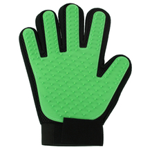 Pet Dog Brush Glove True Touch Deshedding Glove Gentle Pet Groomin Bathing Cleaning Glove Comb Rubber Right Hand Glove Green