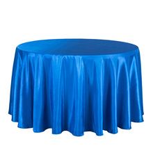 10PCS Solid Satin Tablecloth Round Hotel Party Wedding Table Cover Blue Pink Red White Table Cloths Square Table Overlay Decor(China)
