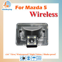 Wireless Parking Camera / 1/4 Color CCD Rear View Camera / Reverse Camera For Mazda 5 Night Vision / 170 degree / Waterproof