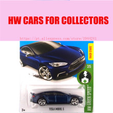 Hot Sale Hot Wheels 1:64 2016 Tesla model S blue cars Models Metal Diecast Car Collection Kids Toys Vehicle For Children