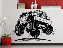 Cool Jeep Car Pattern Art Wall Decals Home Livingroom Modern Decor Fashion Wall Stickers Huge Car Pattern Special Murals Wm-483(China)