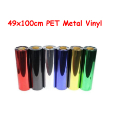 Width 49cmx100cm Heat Transfer Vinyl Film PET Metal light Mirror Finish for Textile Print