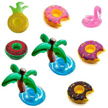 Mini Inflatable Drink Cup Holders Mini Flamingo Christmas Wedding Birthday Party Supply Swimming Pool Toys(China)