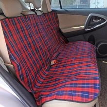 Pet Carriers Car Seat Cover Durable Dog Cats Car Blanket Hammock Print Oxford Dog Cushion Protector for Travel(China)