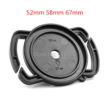 Camera Lens Cap keeper 52mm 58mm 67mm Universal Lens Cap Camera Buckle Lens Cap Holder Keeper Free shipping(China)